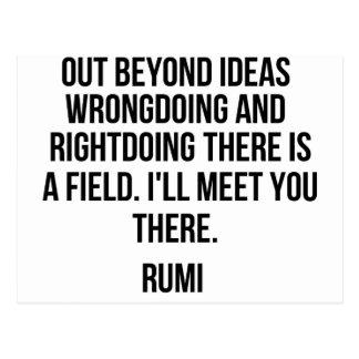 Heraus über Ideen hinaus… Rumi Postkarte