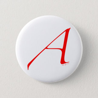 Heraus und stolzer Atheist Runder Button 5,7 Cm