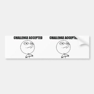 Herausforderung angenommen autoaufkleber