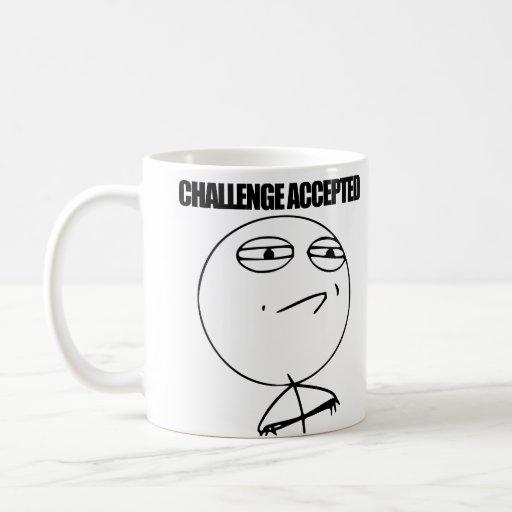 Tassen Lesen : Herausforderung angenommen kaffee tassen zazzle