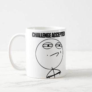 Herausforderung angenommen tasse
