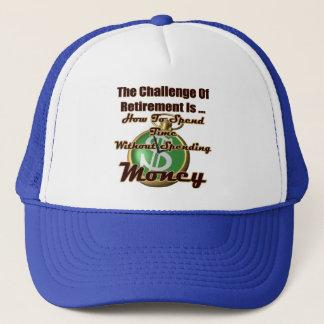 Herausforderung der Ruhestands-Geschenke und der T Truckerkappe