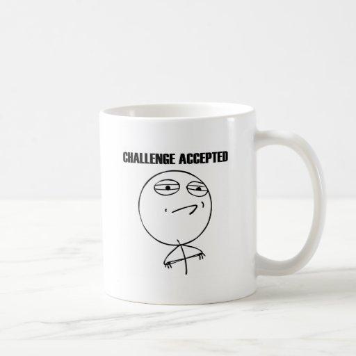 Herausforderung geltendes Meme (vom reddit und von Kaffee Tasse