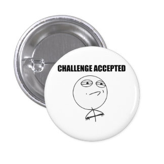 Herausforderung geltendes Raserei-Gesichts-Comic M Runder Button 3,2 Cm