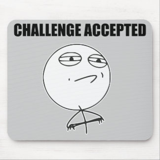 Herausforderung geltendes Raserei-Gesichts-Comic Mousepads