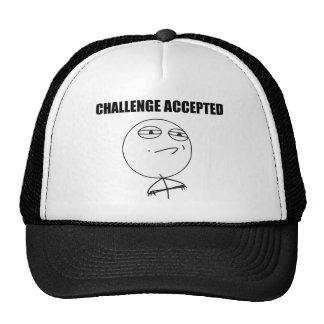 Herausforderung geltendes Raserei-Gesichts-Comic Mützen
