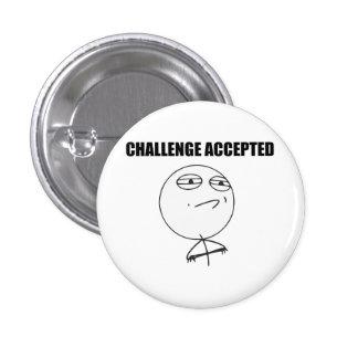 Herausforderung geltendes Raserei-Gesichts-Comic Runder Button 3,2 Cm