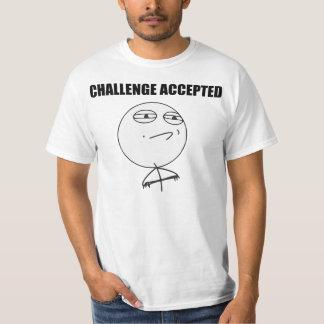 Herausforderung geltendes Raserei-Gesichts-Comic T-Shirt