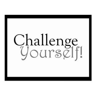 Herausforderung sich! - Motivierend Postkarte