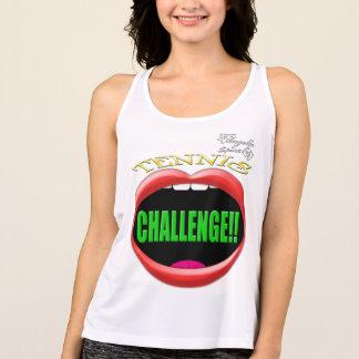 Herausforderung! Tennis-Leistungs-Trägershirt Tank Top