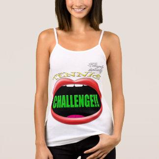 Herausforderung! Tennis-Spaghettibügel Trägershirt Tank Top