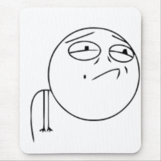 Herausforderung versagtes Comic meme Mousepads