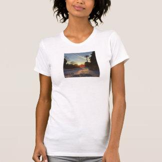Herausforderung zum grellen Glanz Shirt