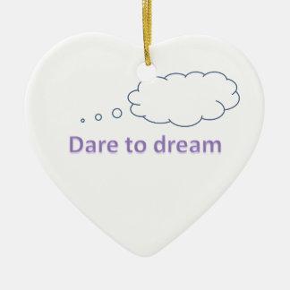 Herausforderung zum Traum Keramik Herz-Ornament