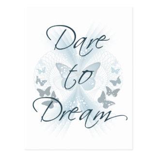 Herausforderung zum Traum Postkarte