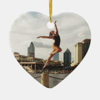 Herausforderung zum zu tanzen keramik Herz-Ornament