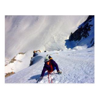 Herausforderungen und Erfolgs-Bergsteigen Postkarte
