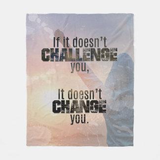 Herausforderungs-athletische Zitat-Decke Fleecedecke
