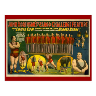 Herausforderungs-Zirkus-Plakat Johns Robinsons Postkarten