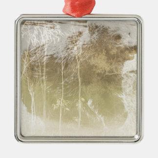 Herausgestellter Bär Silbernes Ornament
