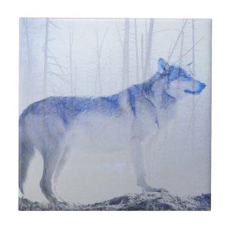 Herausgestellter Wolf Keramikfliese