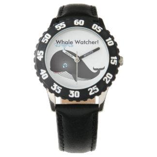 """Herausspritzender Wal-Beobachter-"" Kinderuhr Armbanduhr"