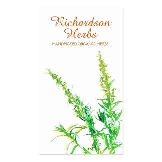 Herbalist-Kraut-Bio im Garten arbeitende Visitenkarten