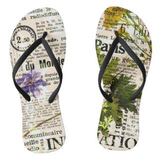 Herbarium-Erwachsener, dünne Bügel Flip Flops