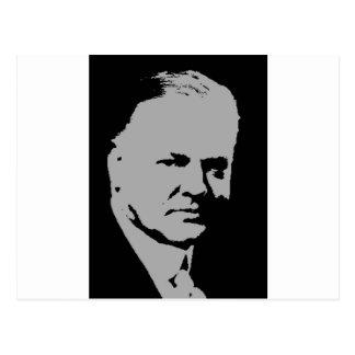 Herbert Hoover Silhouette Postkarte