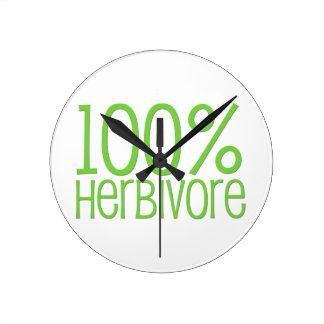 Herbivore 100% runde wanduhr