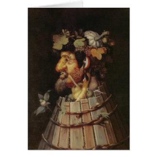 Herbst - 1573 - Arcimboldo Grußkarte