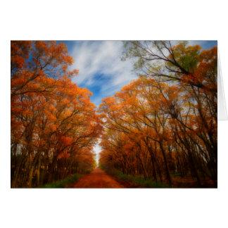 Herbst-Abend Karte