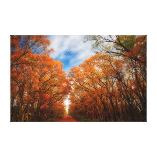 Herbst-Abend Leinwanddruck