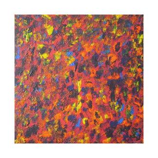 Herbst-abstrakter moderne leinwanddruck