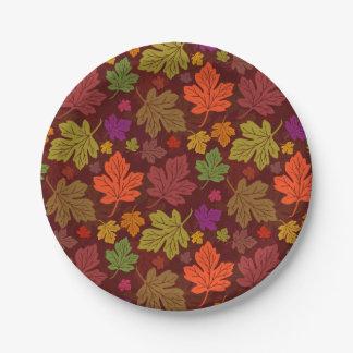 Herbst-Ahorn-Blätter-Fall-Party-Muster Pappteller