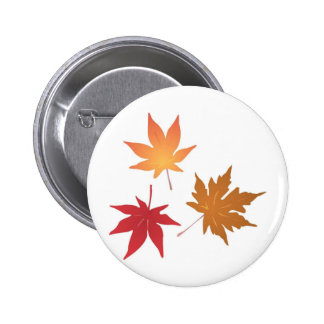 Herbst-Ahorn verlässt Sammlung Runder Button 5,7 Cm