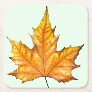 Herbst-Ahornblatt Rechteckiger Pappuntersetzer