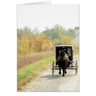 Herbst-amisches Pferd und Buggy Karte
