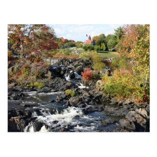 Herbst an Cargill Fällen Postkarte