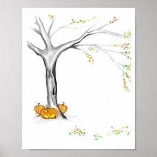 Herbst-Änderungen Poster