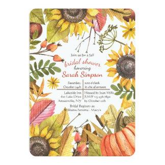 Herbst-Aquarell-Einladung Karte