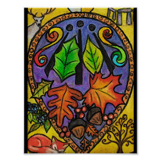 Herbst Äquinoktikum-/Mabon-/Alban- Elfed/Awenkunst Poster