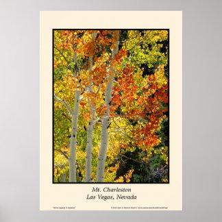 "Herbst Aspen 20"" Mt. Charleston Nanovolt"" Plakat"