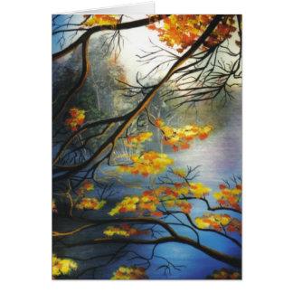 """""""Herbst auf dem Fluss """" Karte"""