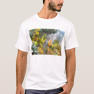 Herbst auf dem Schlucht-Wand-Shirt T-Shirt