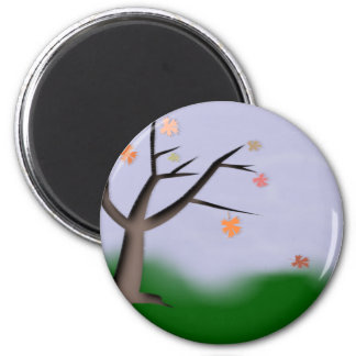 Herbst autumn runder magnet 5,1 cm