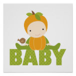 Herbst-Babyparty-Zeichen Posterdruck