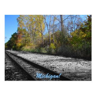 Herbst-Bahnstrecke Postkarte