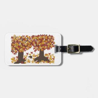 Herbst-Baum-Gepäckanhänger Kofferanhänger