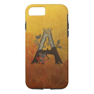 Herbst-Baum-Monogramm A iPhone 8/7 Hülle